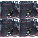 Top Shop Housse de siège universel voiture pour chien imperméable 146x 146cm Rouge et Noir