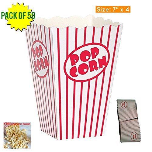 Popcorn Box, Pappe, rot und weiß gestreift Popcorn Boxen Popcorn Eimer 7