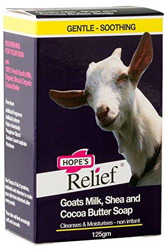 Hope's Relief Goats Milk Soap, Seife mit Ziegenmilch - Natürliche Formel für Haut, die die zu Ekzemen, Schuppenflechte und Dermatitis neigt (Babys, Kinder, Erwachsene) - Ziegen-milch-bar