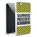 ACHTUNG geschützt durch Bloodhound Schutzhülle Slim Hybrid Rubber Bumper Hülle für Apple iPhone 66S Plus