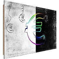 Feeby Frames, Immagine da parete, Immagine decorativa, Immagine stampata, Immagine Deco Panel, 78x118 cm, MODERNO, EURO, SIMBOLO, VALUTA,