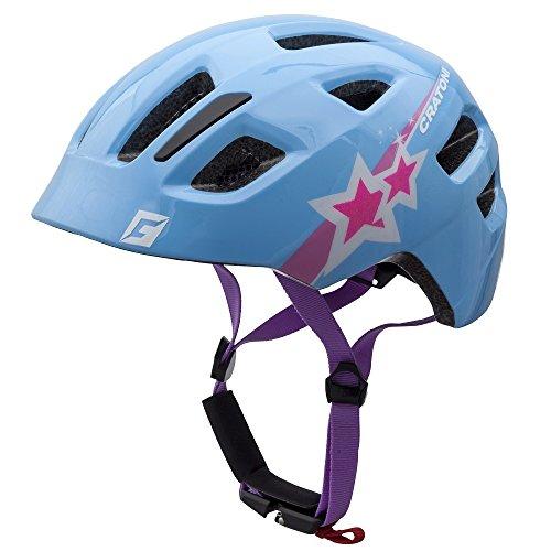 Cratoni Kinder Maxster Fahrradhelm, Blue Star Glossy, S-M