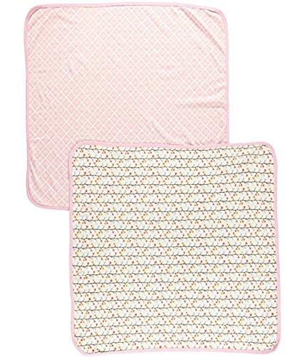 Hudson Baby Pink Zweige 2er Pack Interlock Wickeldecke 91,4x 91,4cm