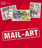 MAIL-ART, 350 FAUX TIMBRES OBLITERES...