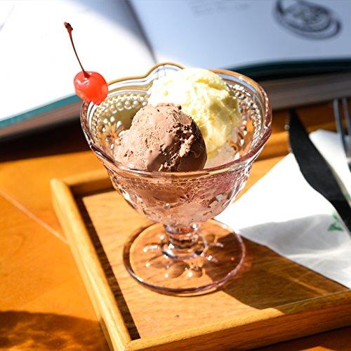 JINZA Couleur Coupe de crème glacée Verre lait frappé gobelet Glace Dessert Coupe Personnalité tasse à glace/verre à vin, sweet powder