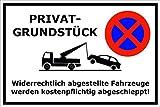 Parken verboten - Schild - Parkverbot - Parkplatz - Halteverbot – Privatgrundstück – Privat – Grundstück - 20x30cm – S20D