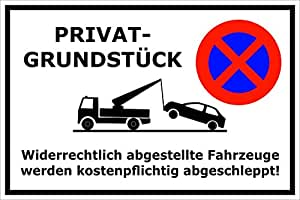 parken verboten schild parkverbot parkplatz halteverbot privatgrundst ck privat. Black Bedroom Furniture Sets. Home Design Ideas