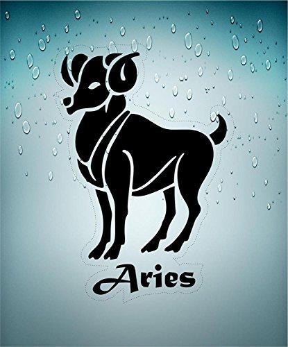 Preisvergleich Produktbild Selbstklebend Wandtattoo Sternzeichen Tierkreiszeichen Aries Belier transparent Horoskop