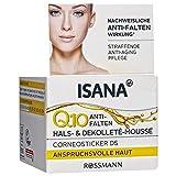 ISANA Q10 Anti-Falten Hals- & Dekolleté-Mousse 50 ml für anspruchsvolle Haut, Corneosticker DS, straffende Anti-Aging Pflege, nachweisliche Anti-Falten Wirkung