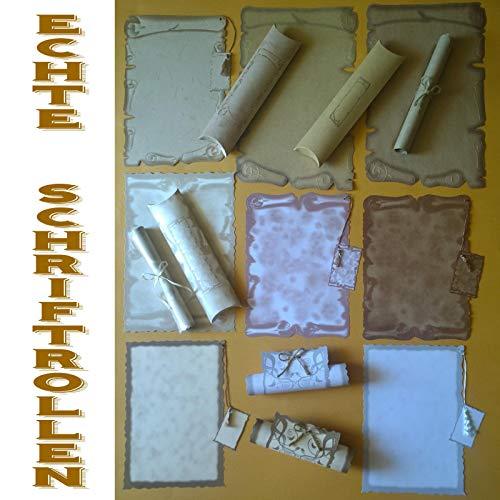 8 Blanko Karten für jeden Anlass + 6 Hüllen ! Besondere Schriftrollen, Gutschein