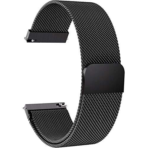 Cinturino di Ricambio per Orologio Samsung Galaxy Watch 46 mm e Gear S3 Frontier/Classic, 22 mm in Acciaio Inox Loop Mesh Band