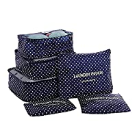 Samtaiker Travel Bag 6 Pieces Set-3 Packing Cube + 3 Bags Compress Your clothes in suitcase liner during travel