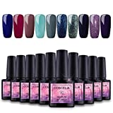 Saint-Acior Gellack UV Lacken Set 10 Farben Nagelgel LED Nagellack Nail Polish Set