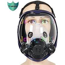 2en 1función 6800de cara completa mascarilla silicona Full Face máscara de gas cara pulverización pintura
