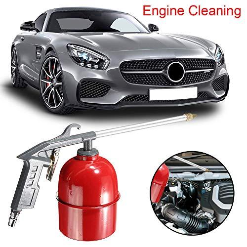 Motor Reinigungspistolen, Druckluftwerkzeug für Autowaschanlagen, Lösemittelluftsprühgerät Entfetter Siphon Werkzeuge Grau für Motorpflege Autowerkzeuge Zubehör aufbewahren ()