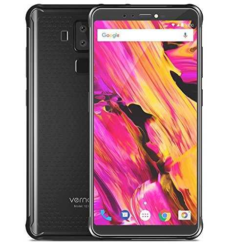 Vernee V2 Pro - FHD from 5,99 inches (18 report: 9) IP68 Waterproof / Shockproof Android Smartphone 8.1, Octa Core from 6 GB + 64 GB, 6000 mAh fast battery charge, four camera (21 MP + 5 MP + 13 MP + 5 MP), GPS / NFC - Black