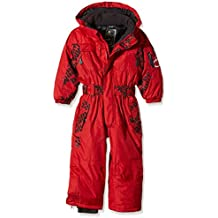 Peak Mountain Ecora - Traje de esquí para niño, traje, Niño, color Rouge (Red), tamaño 6 años (talla del fabricante: 6)