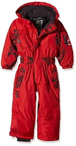 Peak Mountain Ecora Combinaison de ski Garçon - Rouge (Red) - FR : 5 ans (Taille Fabricant : 5)