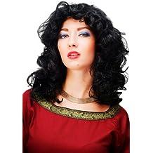 Wig Me Up - Parrucca Da Carnevale, Colore Nero, Leggermente Ricci, Ondulati, 61842-P103