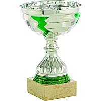 Art-Trophies TP115 Trophy Sports LAMPO, Silver/Green, 18 cm