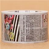 Nastro adesivo decorativo Washi largo con giornale, da mt