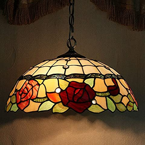 Carl Artbay Tiffany Style Lamp 16 Inches Modern Creative Fashion Warm Light Glass Shade Single-Head