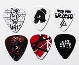 #9: Guitar Picks of Famous Heavy Metal/Rock Bands, Set of 6