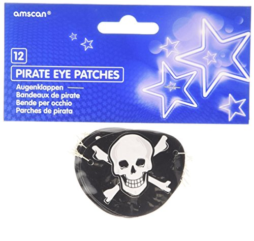 lot de 12 cache oeil pirate 0013051422301