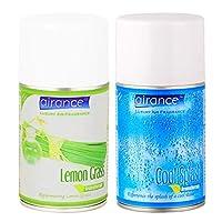 Airance Room Freshner Spray Aroma Perfume Refill Lemon Grass & Cool Splash - 250 ML - Pack of Two - Fit All Machines Using 250 ML / 300 ML Bottles