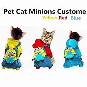 3style costume de chat Minions Pet Manteau Combinaison Vêtements d'hiver vêtements manteau chaud chiot chat Cartoon pour petits chiens S M L XL XXL 09