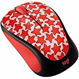 Logitech M317 Wireless Mouse Red Stars