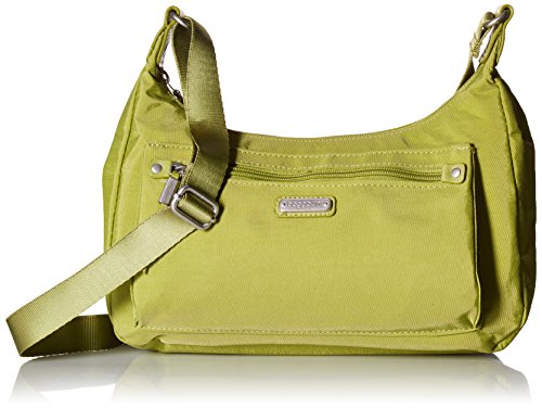 Baggallini Damen Out and About Bagg with RFID Phone Wristlet, grün-Spring Green, Einheitsgröße -