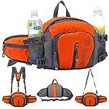 VISTANIA Escursionismo Marsupio Bag Bum Marsupio Con Borsa Da Corsa Per Il Campeggio Arrampicata Viaggio In Bicicletta E Dog Walking,Orange