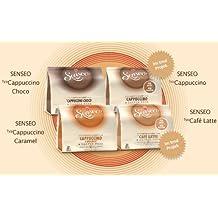 Juego Senseo Milk: sabores Café Latte, Cappuccino, Choco Cappuccino, Cappuccino Caramel, 4x 8cápsulas de café