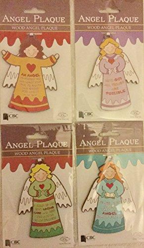Angel Vorlagen 4Holz Happy Angelic Neuheit Hängedekoration mit je Nachricht Bringing Joy & Peace (Himmlische Nachricht)