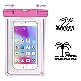 MPC Handy Schutzhüle - Für SISWOO A4 Chocolate - Wasserdichte / Staubdichte Smartphone Beachbag - HBB Pink
