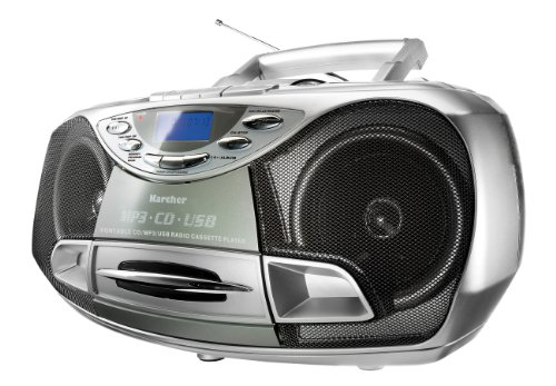 Karcher CD Radio RR 510N - Boombox (mit CD Player, UKW Radio, Kassettenspieler, MP3 Player über CD oder USB)