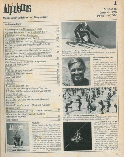 Alpinismus. Magazin fur Skifahrer und Bergsteiger.