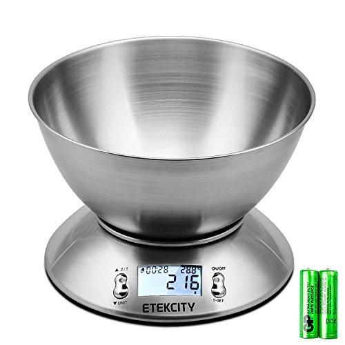 Etekcity EK4150 Báscula Digital para Cocina con Tazón Removible , 11 lbs...