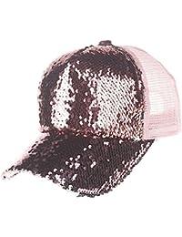 Casquette de Baseball Unisexe - Chapeau de Soleil, Casquette courbée    Taille Ajustable, Matière en Coton, Paillettes,… 974b0287468