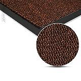 Fussmatte Schmutzfangmatte Fussmatten Schmutzmatte Türmatte waschbar BRAUN 90x150cm Schmutzfangläufer Matte