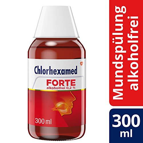 Chlorhexamed Forte Alkoholfrei 0,2 {643b4ea26fbf7bc988aeb2b1a40c9bc9f6cd99f0389b7c8eea2eb1a072794936} Mundspüllösung mit Chlorhexidin, 300ml, Antibakterielle Mundspülung bei bakteriell bedingter Zahnfleischentzündung