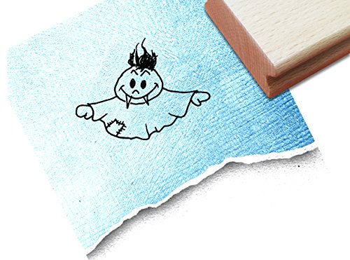 inderstempel Motivstempel Halloweenstempel - Vampirgespenst - Bilderstempel zum Ausmalen für Kita - Kinderzimmer - Schule und Beruf (Drucken Malvorlagen Halloween)