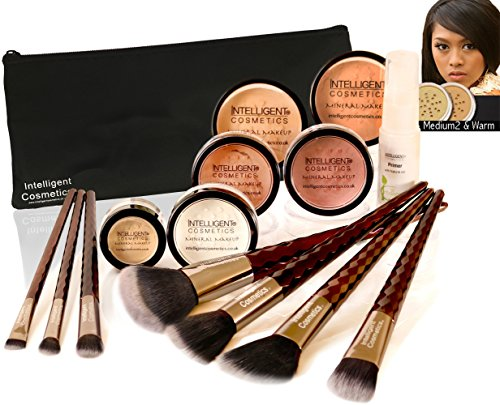 WARM SKIN Bare Face Affection Minerals Sheer Finish Mineral Makeup 13 Piece Set Foundation Full Cover