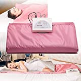 Ayanxh Saunablanket Heating Body Massage Thin Machine for Lymphatic Drainage to do Body Health (no Remote Control, Battery is Not Included),Pink