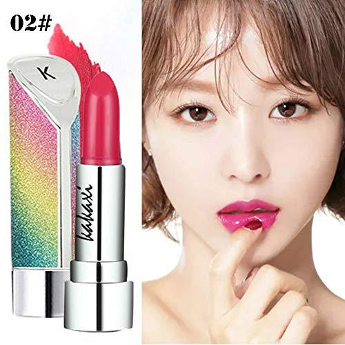 Rouge à lèvres femme,Fulltime 8 couleurs Imperméable à lèvres long durable crayon à lèvres Matte rouge à lèvres Gloss maquillage beauté (02#)
