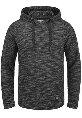 BLEND Zovic Herren Kapuzenpullover Hoodie Sweatshirt aus hochwertiger Baumwollmischung Meliert, Größe:XL, Farbe:Black (70155) (China-kragen Tasche)