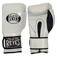 Cleto Reyes Hook & Loop Boxing Training Gloves (White, 12 oz)
