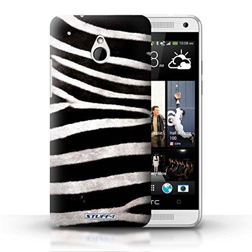 Kobalt® Imprimé Etui / Coque pour HTC One/1 Mini / Zèbre conception / Série Motif Fourrure Animale Zèbre