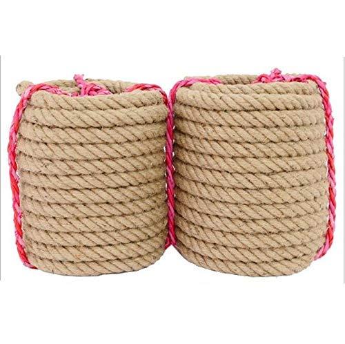 Lace Crafts - 3mm-14mm grobe natürliche Hanfseil gebunden Seil Outdoor Seil Treppe dekoriert Zaun Seil DIY Handbuch - (Farbe: 3 mm x 200 Meter) (Zoll 1 Hanf-seil)